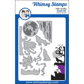 Whimsy Stamps HOWLING NIGHT Dies WSD572