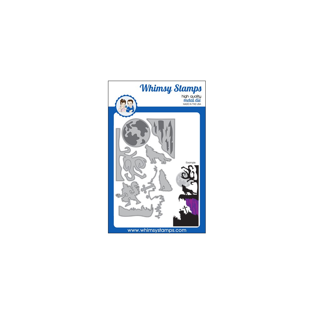 Whimsy Stamps HOWLING NIGHT Dies WSD572 zoom image