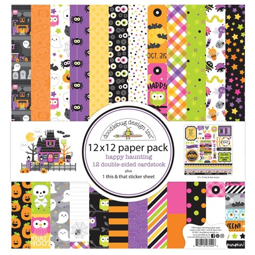 Doodlebug HAPPY HAUNTING 12x12 Inch Paper Pack 7444 Preview Image