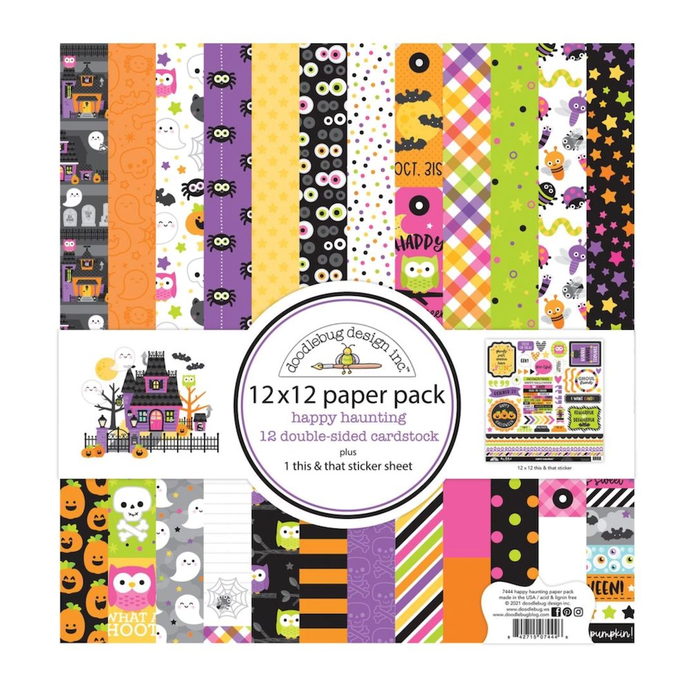 Doodlebug HAPPY HAUNTING 12x12 Inch Paper Pack 7444 zoom image