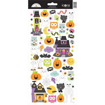 Doodlebug HAPPY HAUNTING Icons Cardstock Stickers 7429