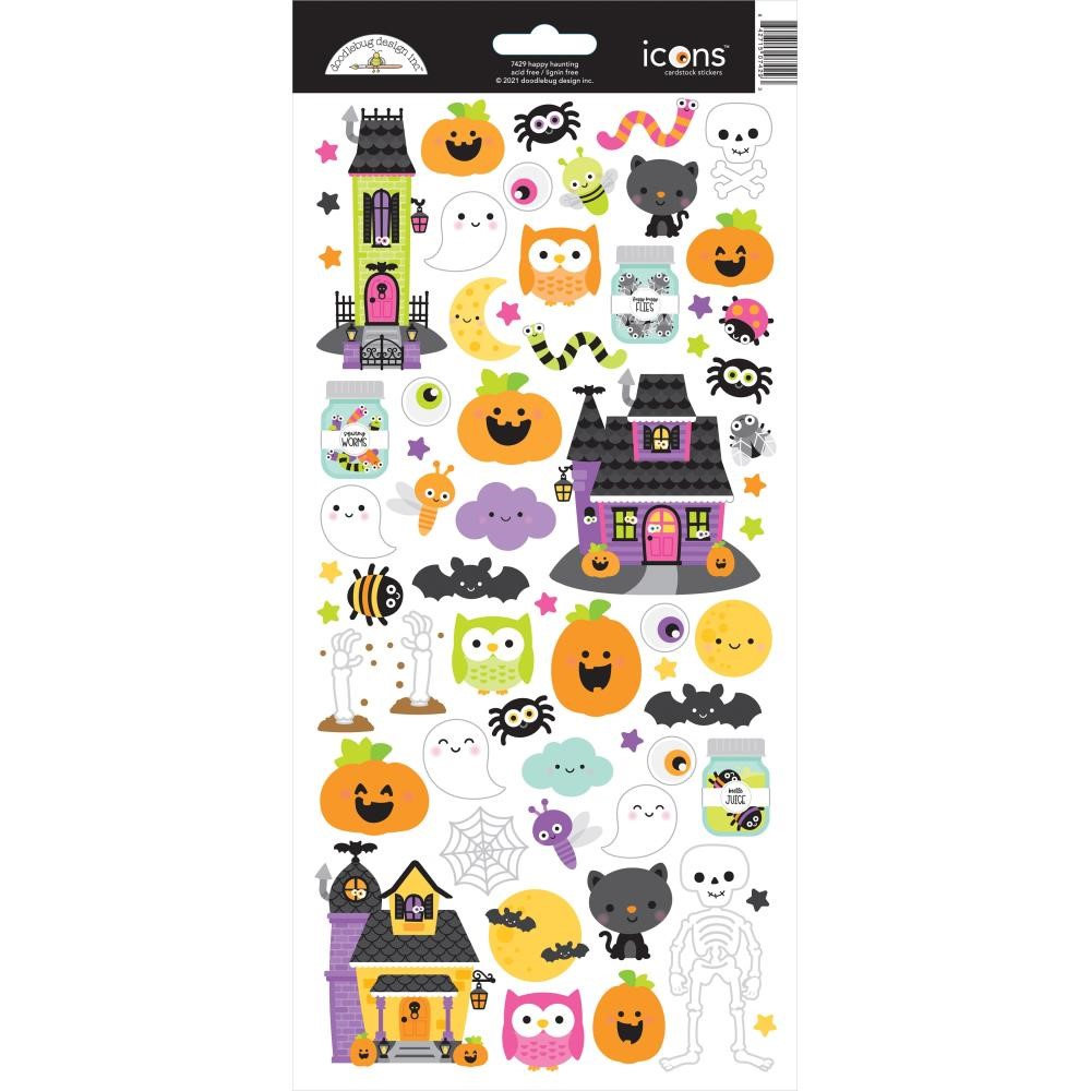 Doodlebug HAPPY HAUNTING Icons Cardstock Stickers 7429 zoom image