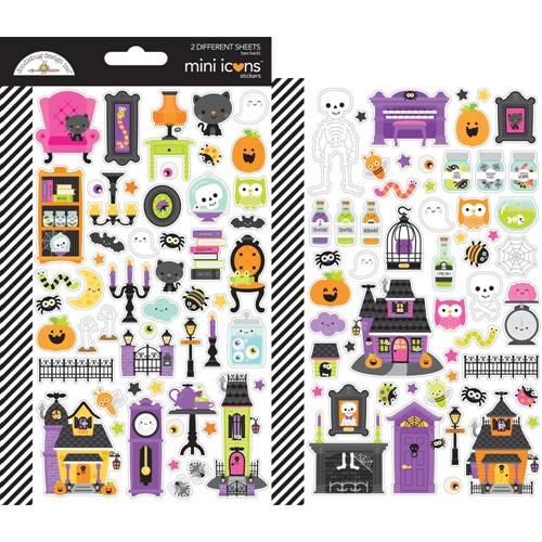 Doodlebug HAPPY HAUNTING Mini Icons Stickers 7420 Preview Image