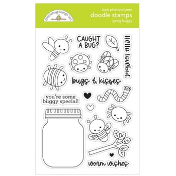 Doodlebug GOING BUGGY Clear Stamps 7423