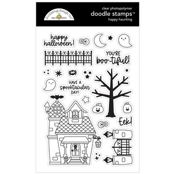 Doodlebug HAPPY HAUNTING Clear Stamps 7421