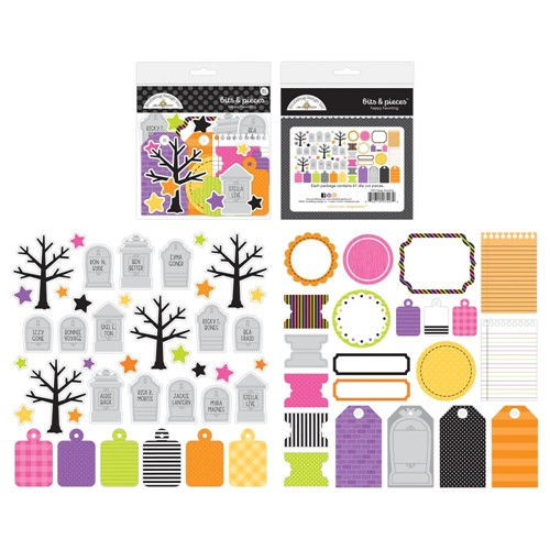 Doodlebug HAPPY HAUNTING BITS AND PIECES Die Cut Shapes 7427 Preview Image