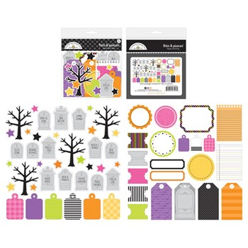 Doodlebug HAPPY HAUNTING BITS AND PIECES Die Cut Shapes 7427