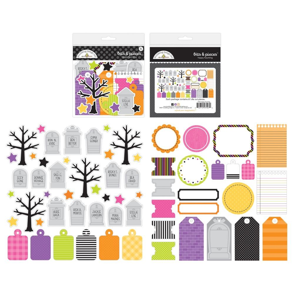 Doodlebug HAPPY HAUNTING BITS AND PIECES Die Cut Shapes 7427 zoom image