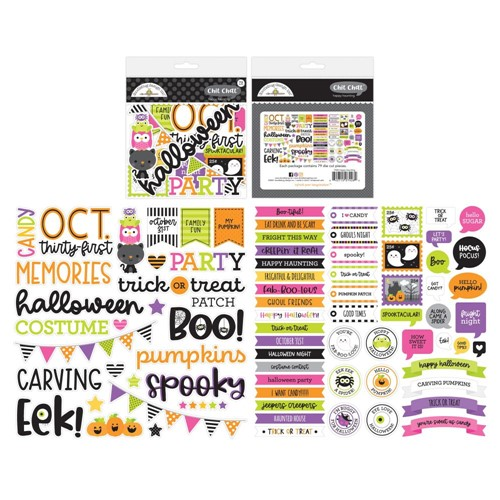 Doodlebug HAPPY HAUNTING CHIT CHAT Die Cut Pieces Ephemera 7426 Preview Image