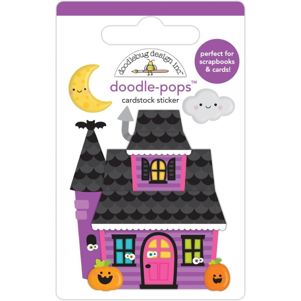 Doodlebug HAPPY HAUNTING Doodle Pops 3D Stickers 7416 zoom image