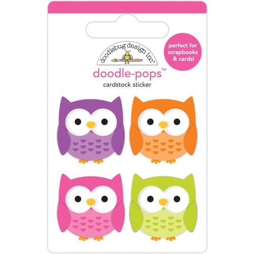 Doodlebug HAPPY OWL-O-WEEN Doodle Pops 3D Stickers 7418 Preview Image