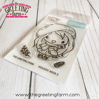 The Greeting Farm HOLIDAY ANYA 9 Clear Stamps tgf603