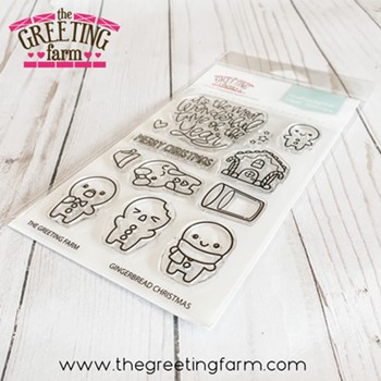 The Greeting Farm GINGERBREAD CHRISTMAS Clear Stamps tgf604