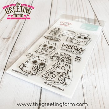 The Greeting Farm MEOWY CHRISTMAS Clear Stamps tgf602