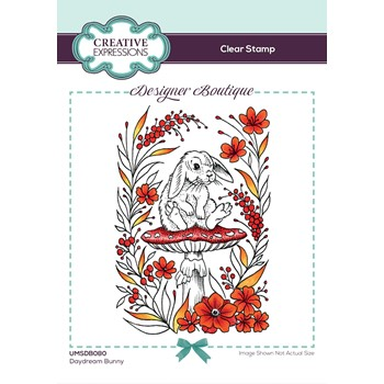 Creative Expressions DAYDREAM BUNNY Clear Stamp umsdb080
