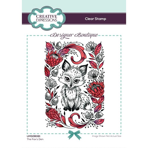 Creative Expressions THE FOX'S DEN Clear Stamp umsdb081 Preview Image