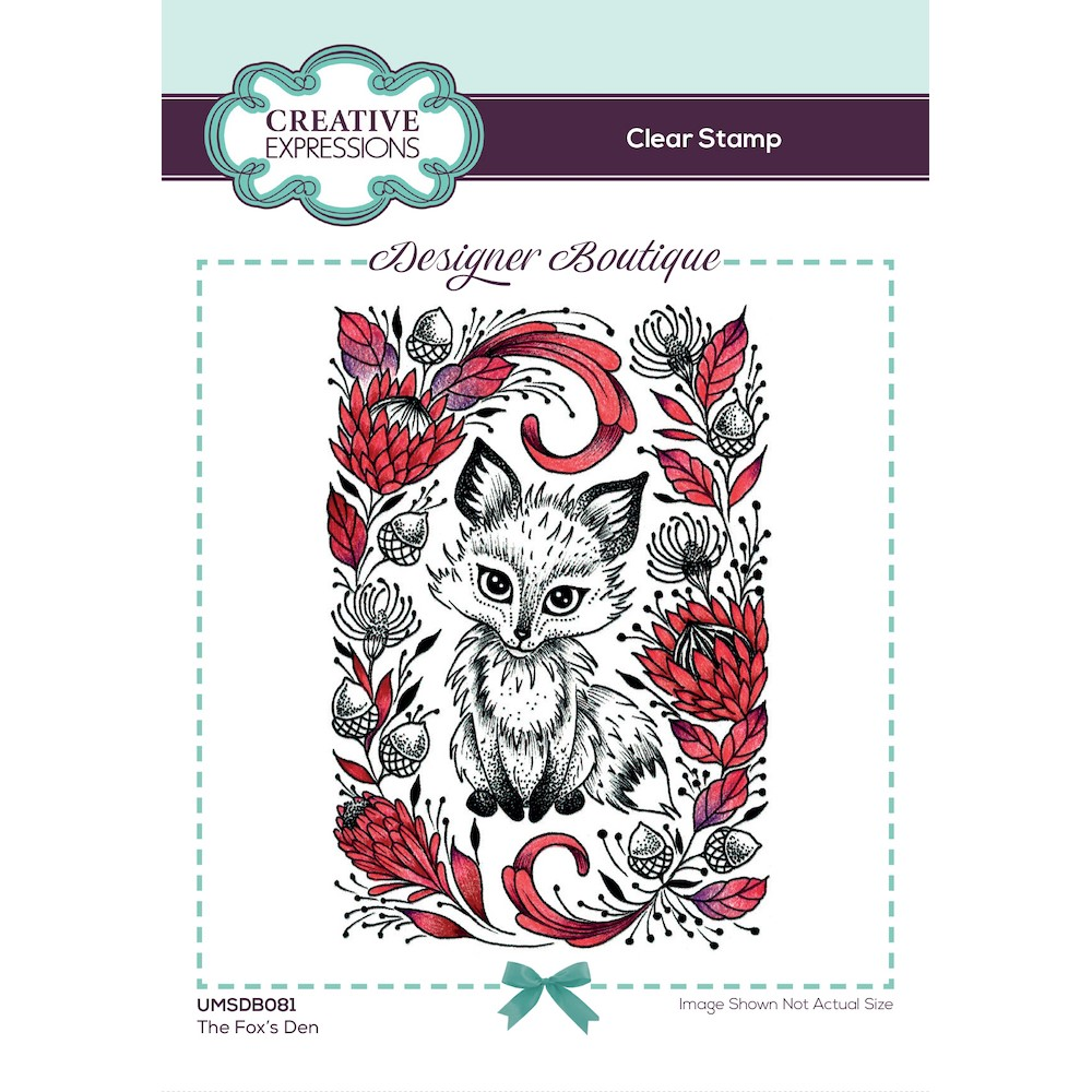 Creative Expressions THE FOX'S DEN Clear Stamp umsdb081 zoom image