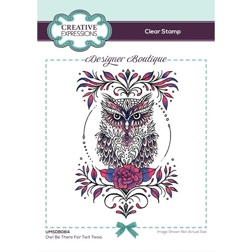Creative Expressions OWL BE THERE FOR TWIT TWOO Clear Stamp umsdb084 Preview Image