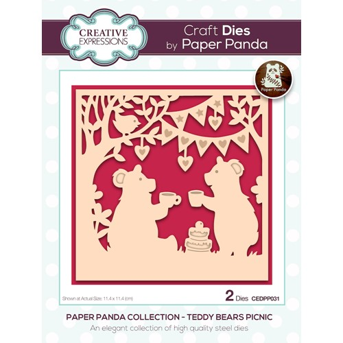 Creative Expressions TEDDY BEARS PICNIC Craft Dies cedpp031 Preview Image
