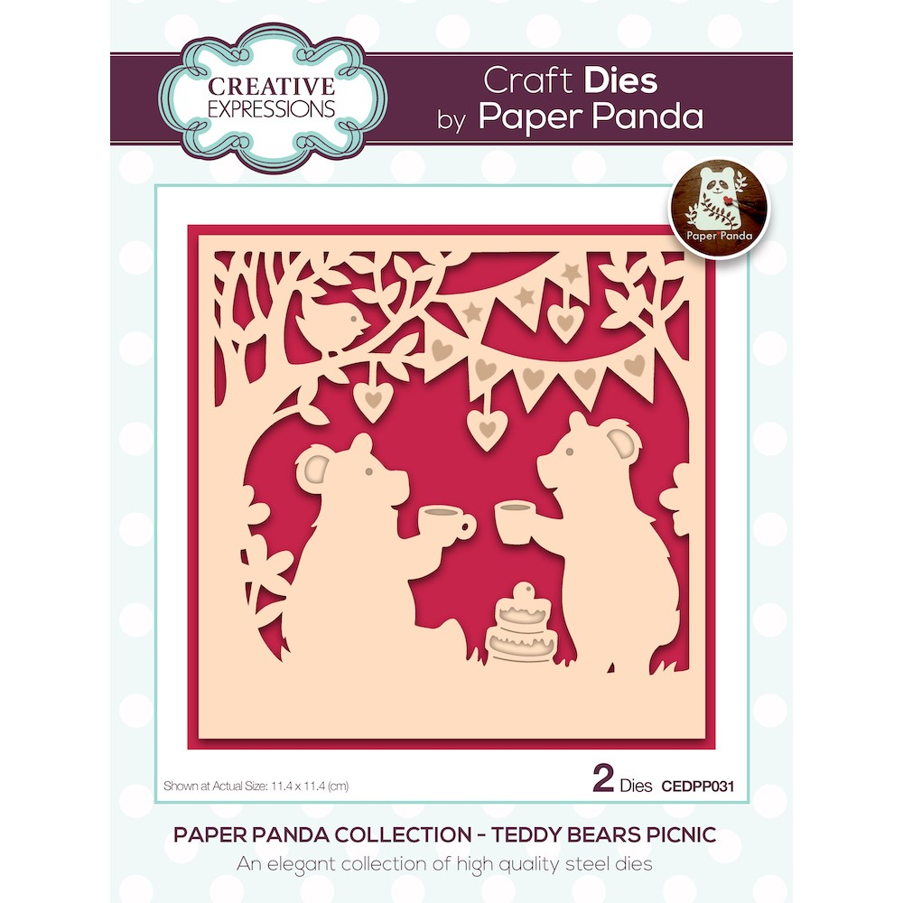 Creative Expressions TEDDY BEARS PICNIC Craft Dies cedpp031 zoom image