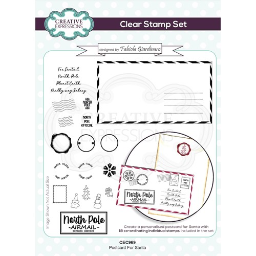 Creative Expressions POSTCARD FOR SANTA Clear Stamps cec969 Preview Image