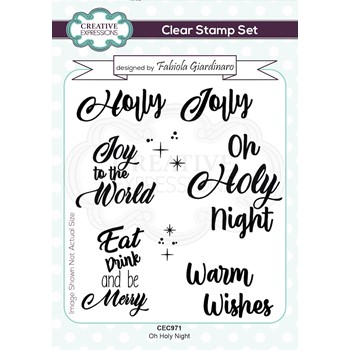 Creative Expressions OH HOLY NIGHT Clear Stamps cec971