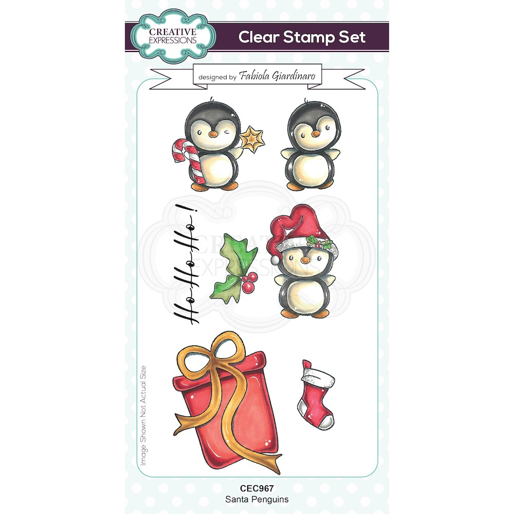 Creative Expressions SANTA PENGUINS Clear Stamps cec967 zoom image