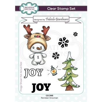 Creative Expressions REINDEER SNOWMAN Clear Stamps cec968