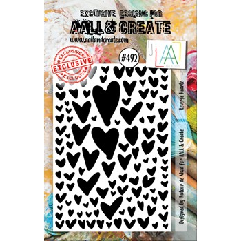 AALL & Create REVERSE HEARTZ A7 Clear Stamp aall492