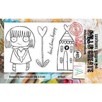 AALL & Create ALL HEART A7 Clear Stamp aall493