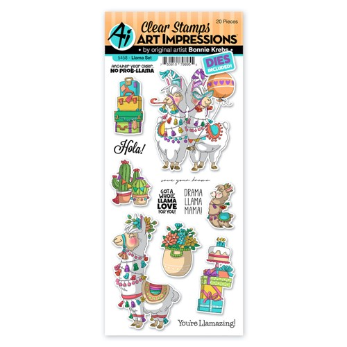 Art Impressions LLAMA Clear Stamps and Dies 5458 Preview Image