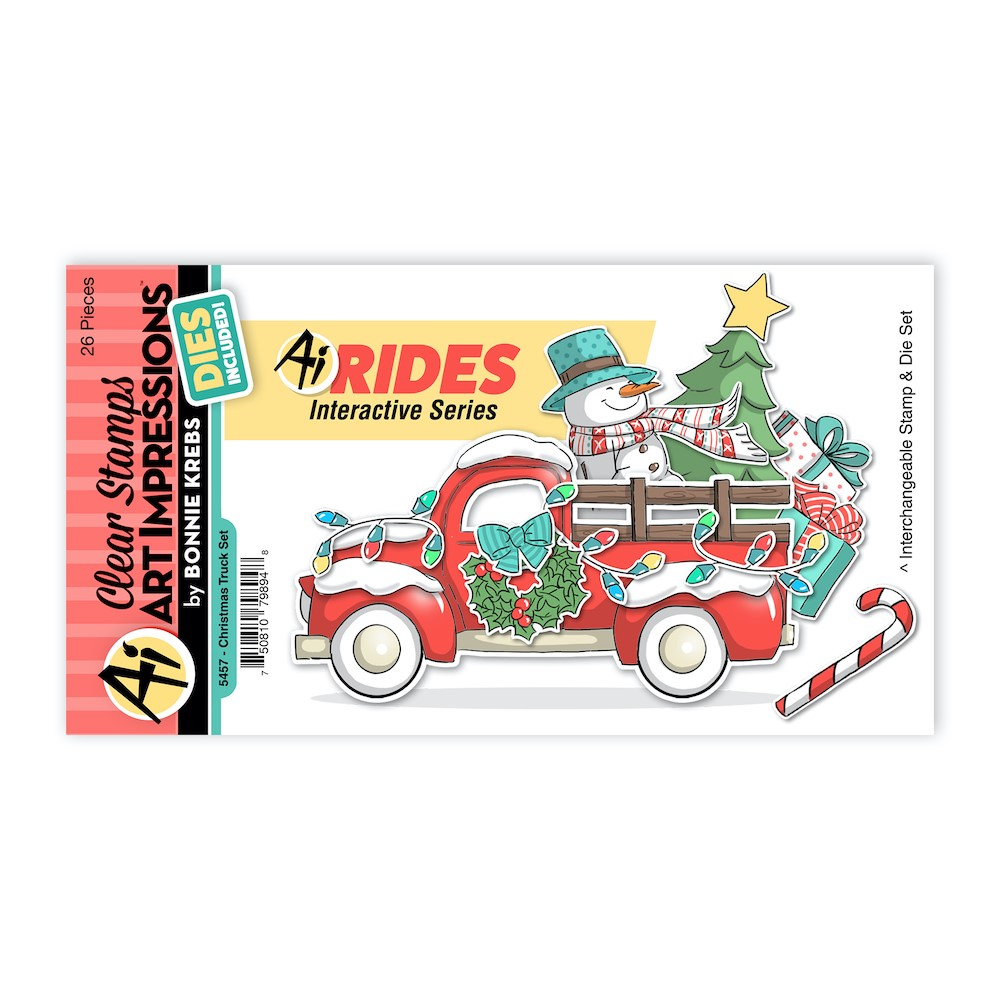 Art Impressions CHRISTMAS TRUCK RIDES Clear Stamps and Dies 5457 zoom image