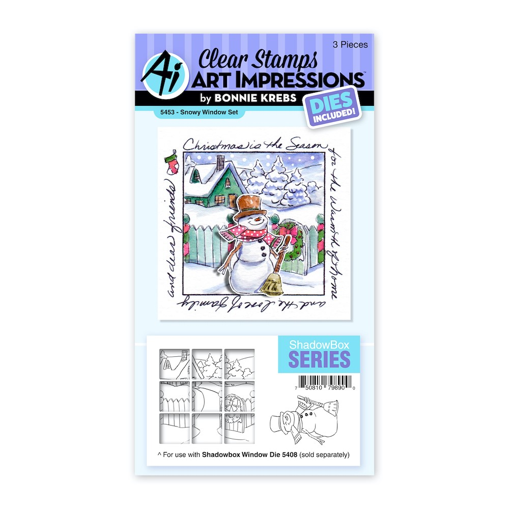 Art Impressions SNOW WINDOW Clear Stamp and Die Set 5453 zoom image