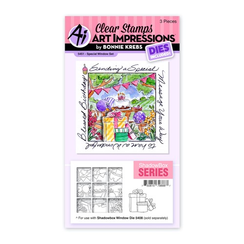 Art Impressions SPECIAL WINDOW Clear Stamp and Die Set 5451 Preview Image