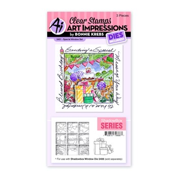 Art Impressions SPECIAL WINDOW Clear Stamp and Die Set 5451