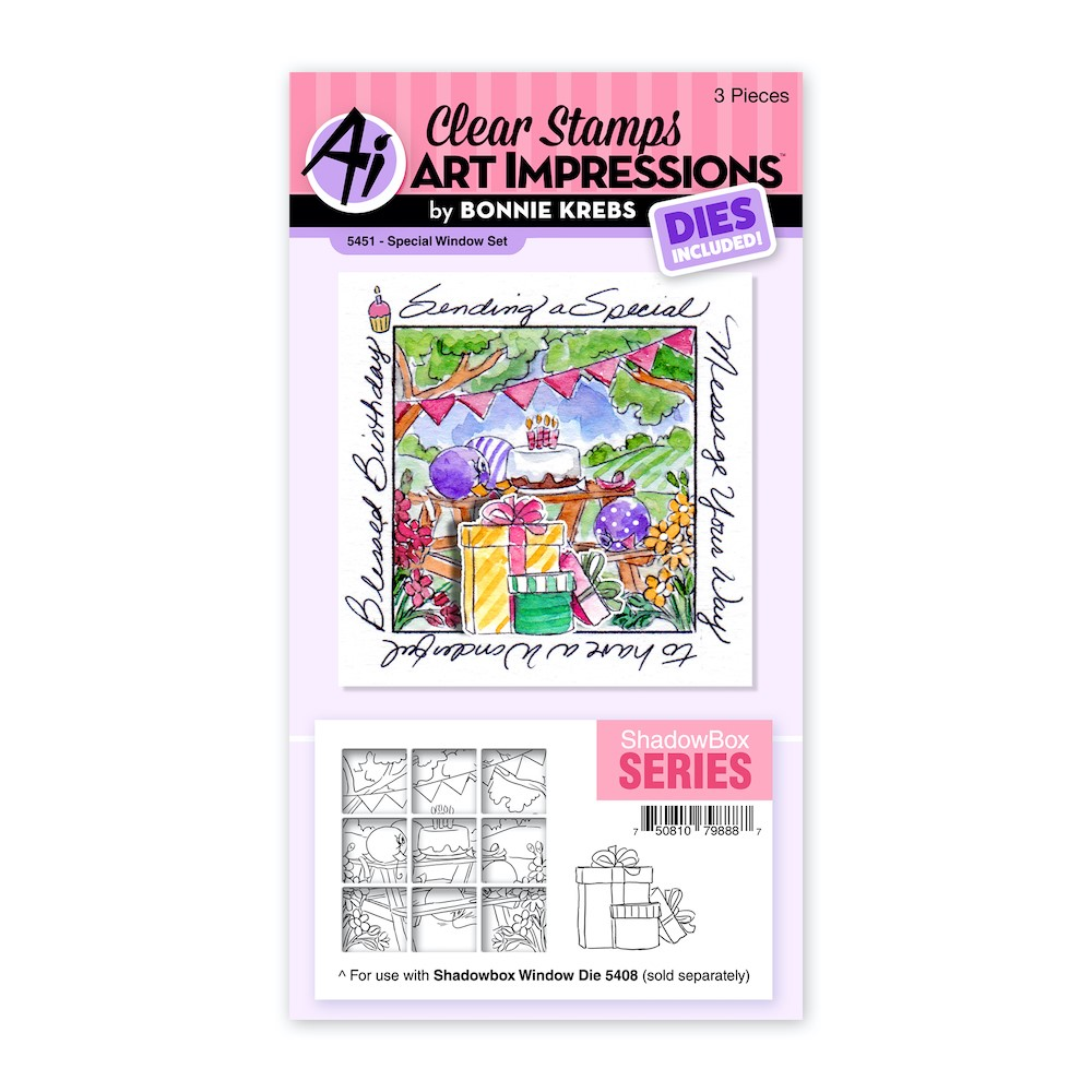 Art Impressions SPECIAL WINDOW Clear Stamp and Die Set 5451 zoom image