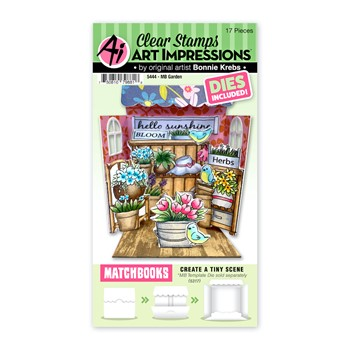 Art Impressions Matchbook GARDEN Clear Stamps and Dies 5444
