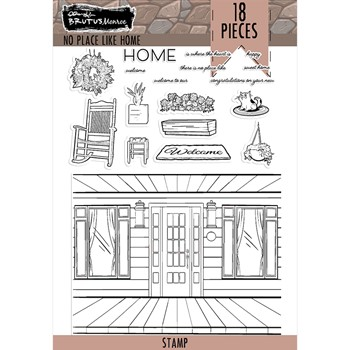 Brutus Monroe NO PLACE LIKE HOME Clear Stamps bru7490