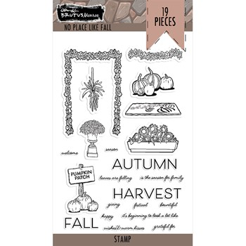Brutus Monroe NO PLACE LIKE HOME FALL Clear Stamps bru7513