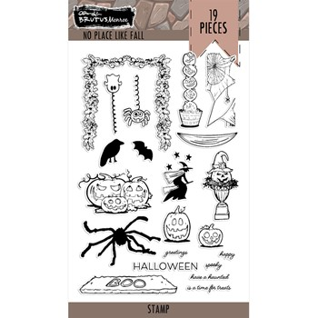 Brutus Monroe NO PLACE LIKE HOME HALLOWEEN Clear Stamps bru7537