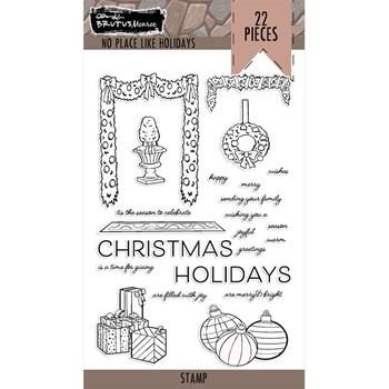 Brutus Monroe NO PLACE LIKE HOME HOLIDAYS Clear Stamps bru7551
