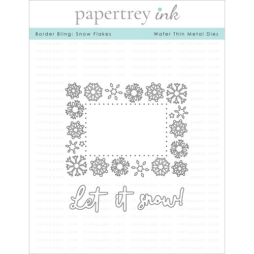 Papertrey Ink BORDER BLING SNOW FLAKES Dies PTI-0349 Preview Image