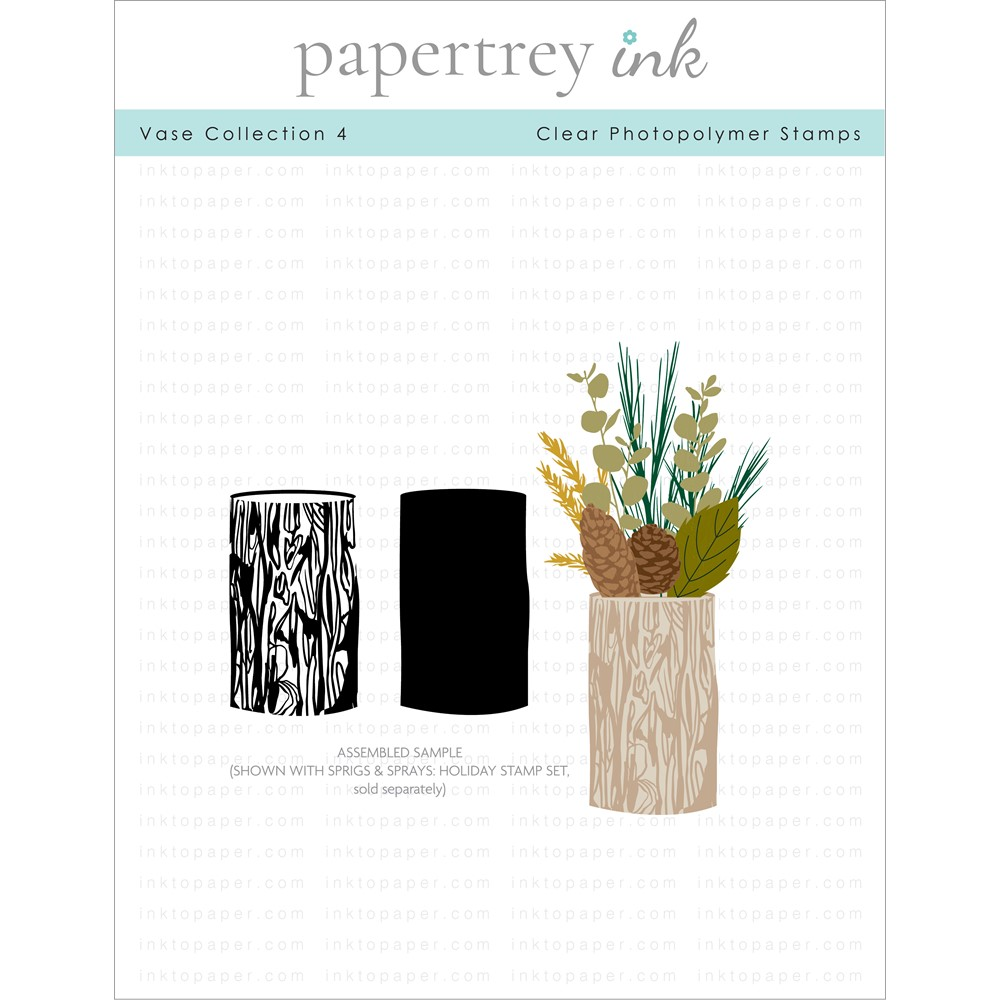 Papertrey Ink VASE COLLECTION 4 Clear Stamps 1329 zoom image
