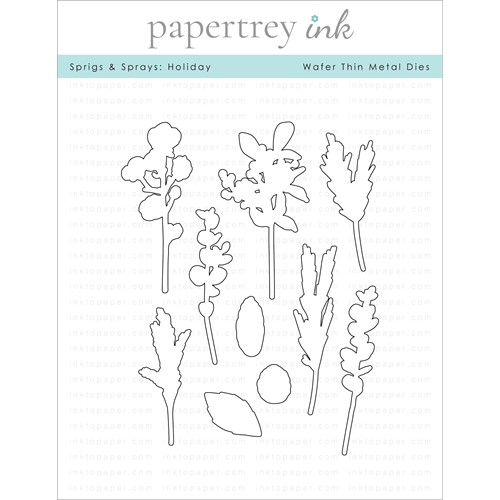 Papertrey Ink SPRIGS AND SPRAYS HOLIDAY Dies PTI-0346 Preview Image