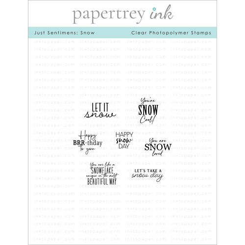 Papertrey Ink JUST SENTIMENTS SNOW Clear Stamps 1325 Preview Image