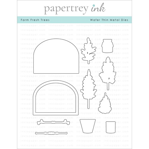 Papertrey Ink FARM FRESH TREES Dies PTI-0345 Preview Image