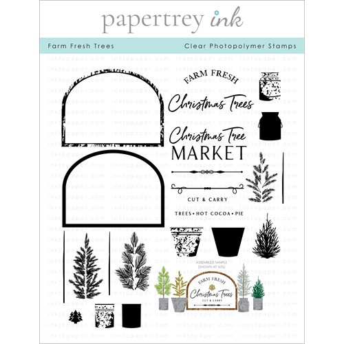 Papertrey Ink FARM FRESH TREES Clear Stamps 1327 Preview Image