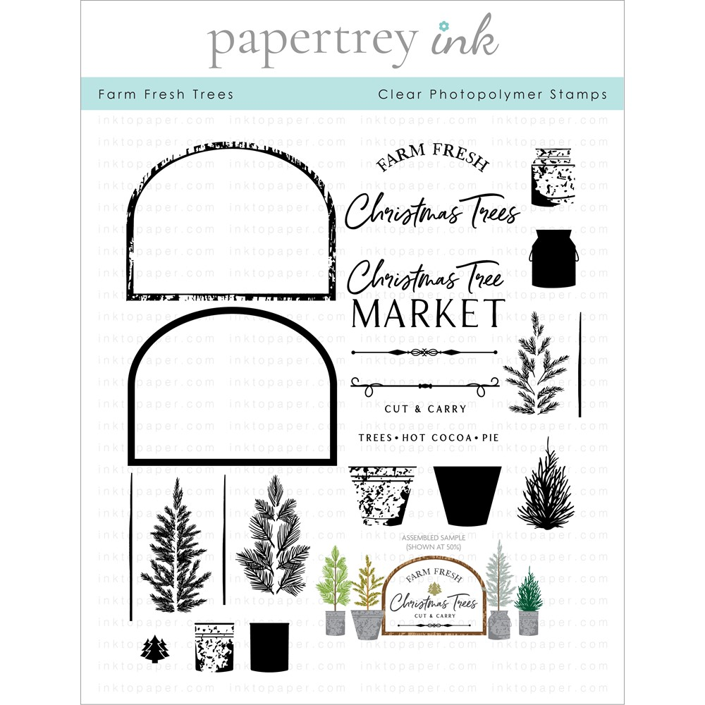 Papertrey Ink FARM FRESH TREES Clear Stamps 1327 zoom image