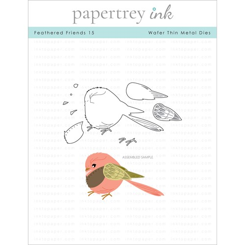 Papertrey Ink FEATHERED FRIENDS 15 Dies PTI-0343 Preview Image