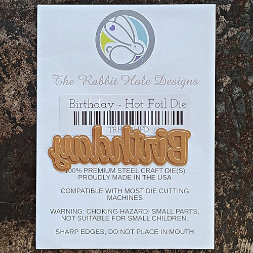 The Rabbit Hole Designs BIRTHDAY Hot Foil Plate TRH-119HFP Preview Image